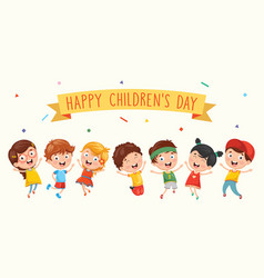 happy children day vector image vector image