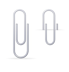 Metal steel clips set vector