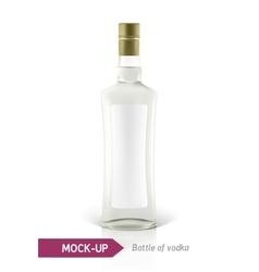 Mockup vodka bottle vector image vector image