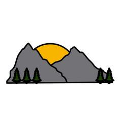 mountain nature landscape vector image