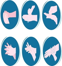 pavilno pranje ruku resize vector image