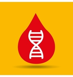 Protection medicine dna science icon vector