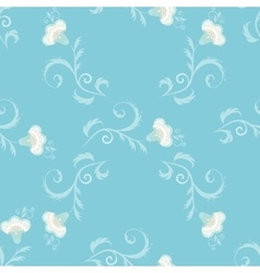 Seamless floral pattern with oriental vector