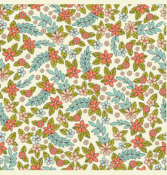seamless pattern with stylized small flowers vector image vector image
