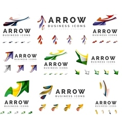 Set of company logotype branding designs arrow vector image