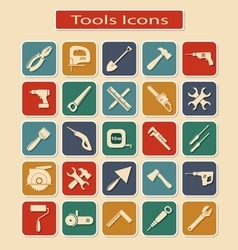 Set of Tools Icons vector image vector image