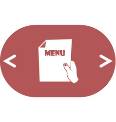 Sheet in hand icon vector