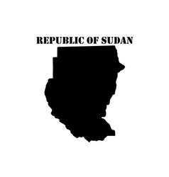 Symbol of republic of sudan and map vector