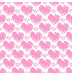 Valentine day seamless pattern vector image