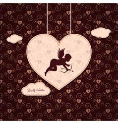 Valentines angel background vector