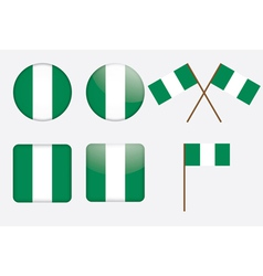 Badges with flag of nigeria vector