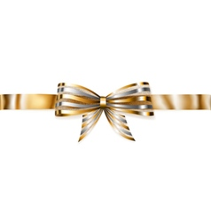 Beautiful striped shiny bow vector
