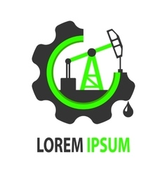 Green oil company logo vector image