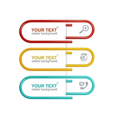 Colorful clips option banner vector