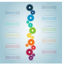 Infographic cog steps 1 vector