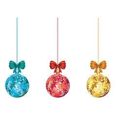 Decorative xmas balls2 vector