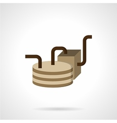 Oil delivery element flat icon vector