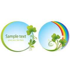 Trefoil at patrick day vector