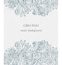 Hand drawn floral design henna flowers vector