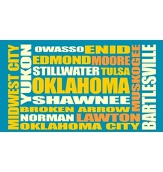 Oklahoma state cities list vector