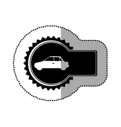 Black emblem car side icon vector