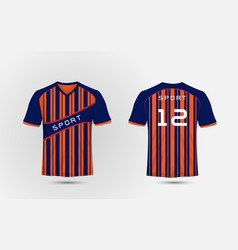 blue and orange pattern sport football kits vector image