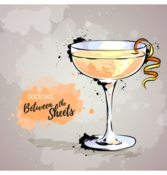 Cocktail between the sheets vector