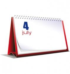 desk calendar vector image vector image