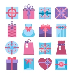 Gift and present box set vector