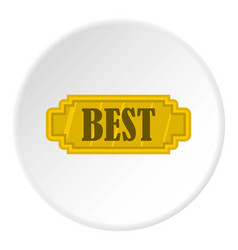 golden best label icon circle vector image vector image