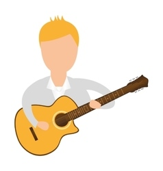 guitarist avatar character man vector image