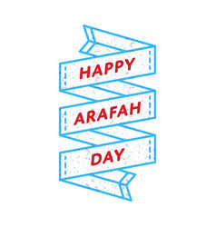 Happy arafah day greeting emblem vector