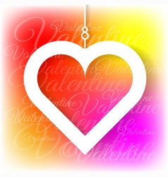 Heart applique on colorful bright background vector image vector image