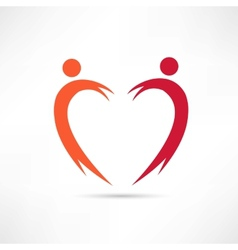 heart of the people icon vector image vector image