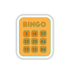 In paper sticker style bingo vector