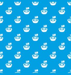 Little flag pattern seamless blue vector