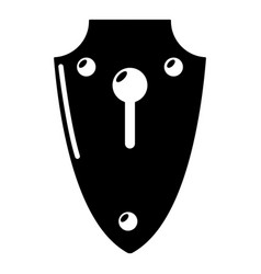 lock medieval icon simple black style vector image