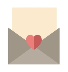Love letter envelope and heart sticker cartoon vector image vector image