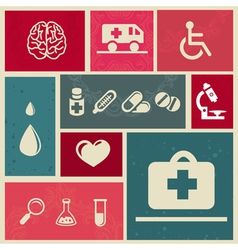 Medical icons and sign vector