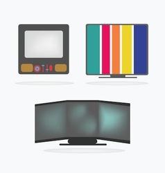 Retro Television Icons set vector image