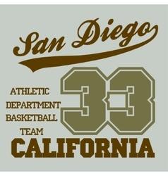 San Diego CA vector image vector image