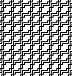 Seamless monochrome squared line pattern vector