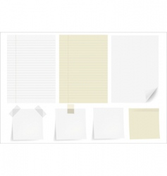 set papers vector image