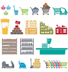 SHOPPING MALL ICONS vector image