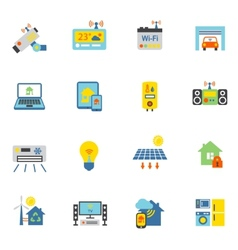 Smart Home Icons Flat vector image