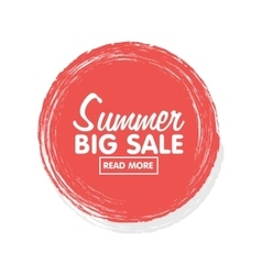 Summer sale concept sticker and banner tamplate vector image vector image
