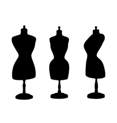Vintage mannequins silhouettes vector image