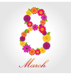 Womens Day Design vector image