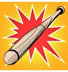 Wood baseball bat retro sports vector
