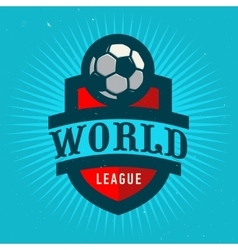 World League Soccer Emblem Design Football Badge vector image vector image